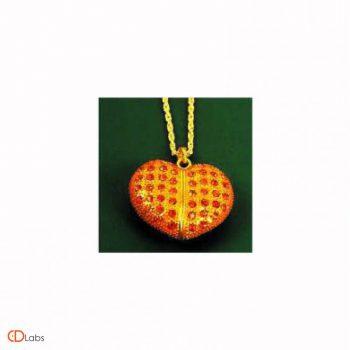 Ювелирная флешка Сердце золотое