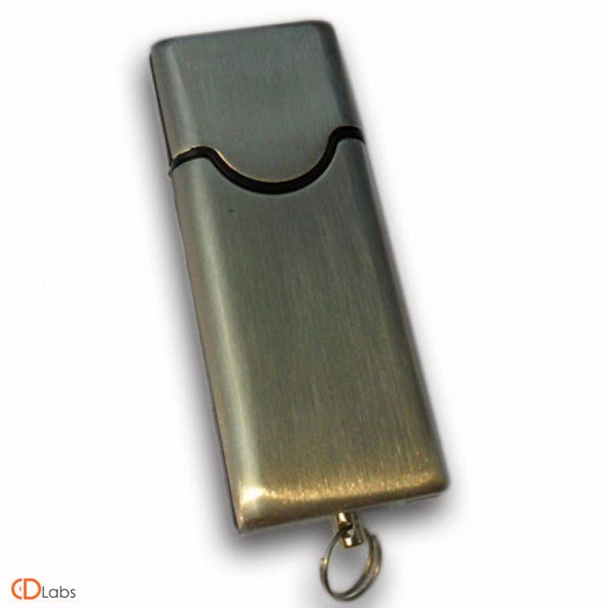 Металлическая флешка матовая с колпачком