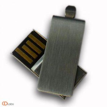 Мини флешка раскладная металлик