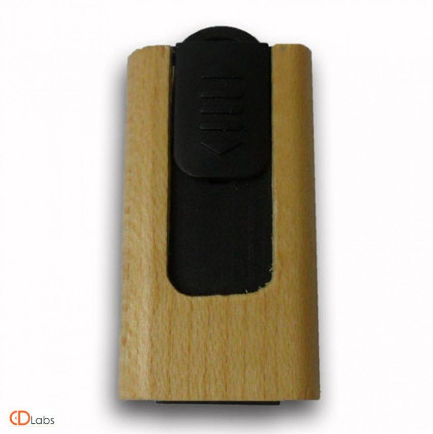 Деревянная флешка — пластик выдвижная