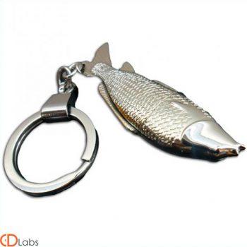 Флешка новинка Рыбка серебристая