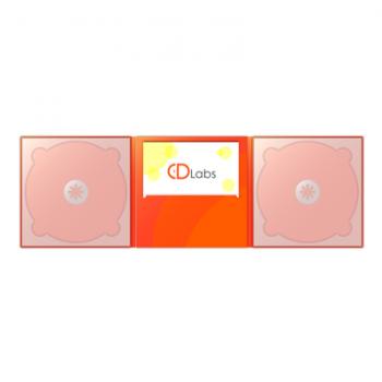 2CD DigiPack 6 полосный с просечкой
