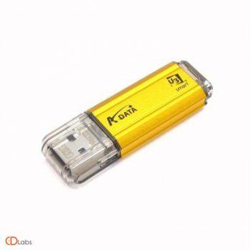Пластиковая флешка желтая, прозрачный колпачок