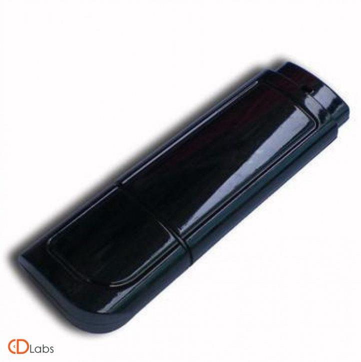 Пластиковая флешка черная, глянец