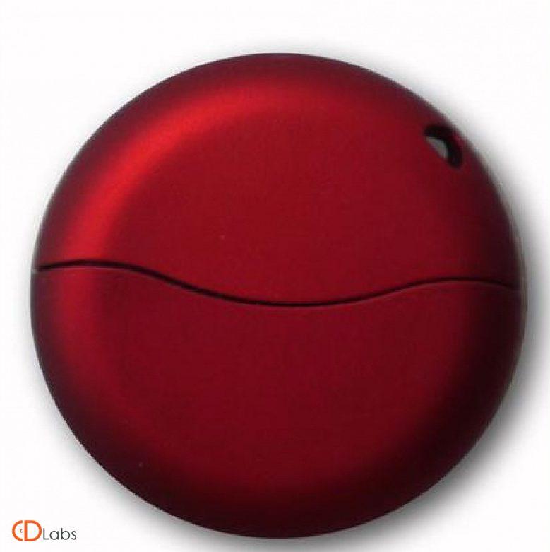 Пластиковая флешка круглая плоская