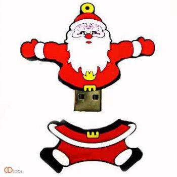 Красно-белая флешка в форме Деда Мороза