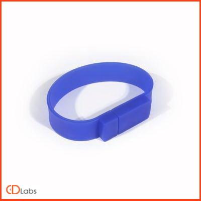 Синяя силиконовая флешка