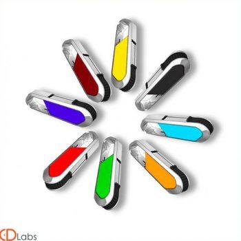 Пластик-металл флешки разноцветные